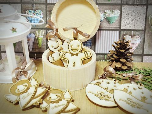 Cutie cadou, 6 ornamente de Crăciun