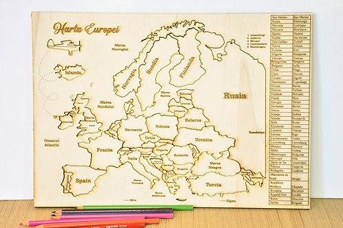Puzzle - Harta Europei