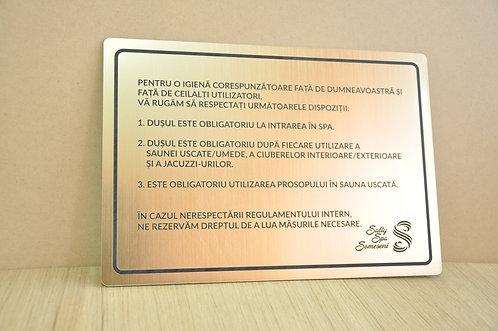 Placa indicatoare A5/20 x 15 cm