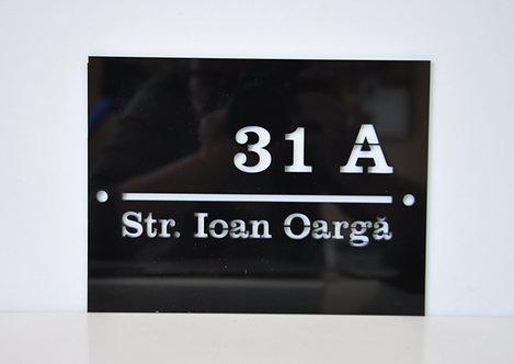 Placă adresă imobil