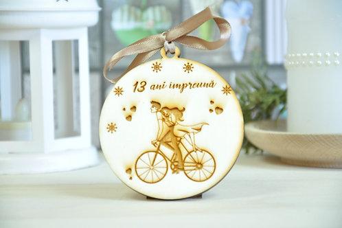 """Glob personalizat """"Bicicleta"""""""