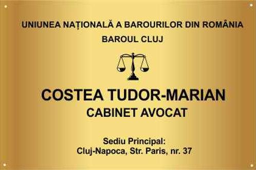 Placa indicatoare, cabinet notarial 60 x 40 cm