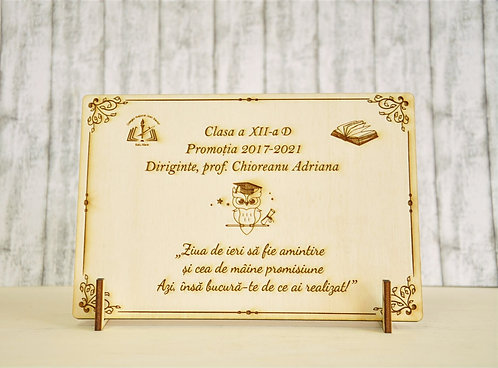 Placa absolvire