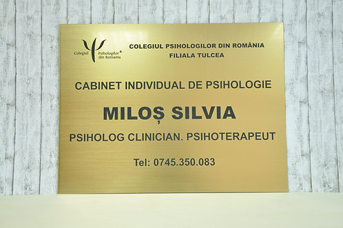Placa cabinet psihologie - 40 x 30 cm