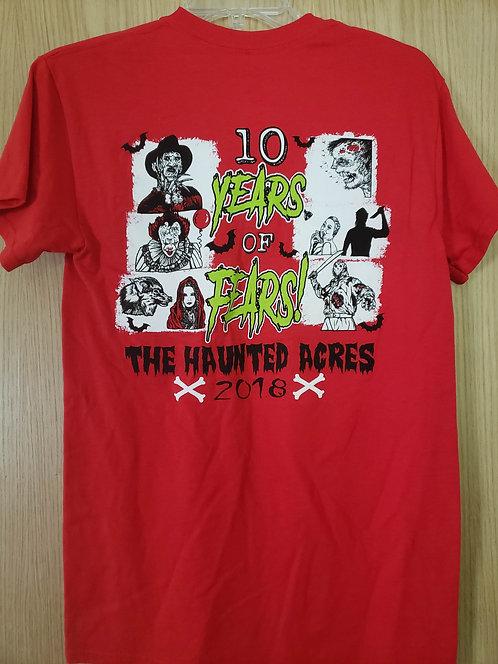 The Haunted Acres T-Shirt Red (2018)