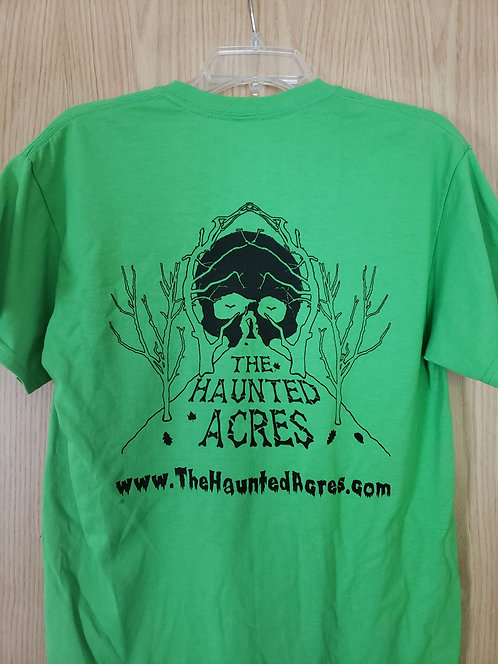 The Haunted Acres T-Shirt Green (no date)