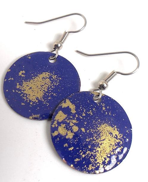 Blue Gold Globe small