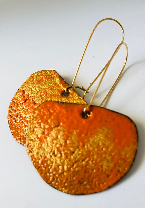 Orange Gold Half Moon small