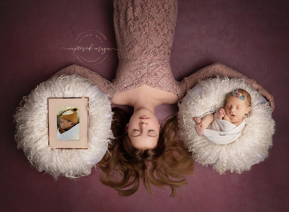 Rainbow baby, newborn, newborn photography, baby photography, newborn photographer, sisters, baby loss, baby loss awareness, angel baby, Newport, Wales, Captured Magic Photography