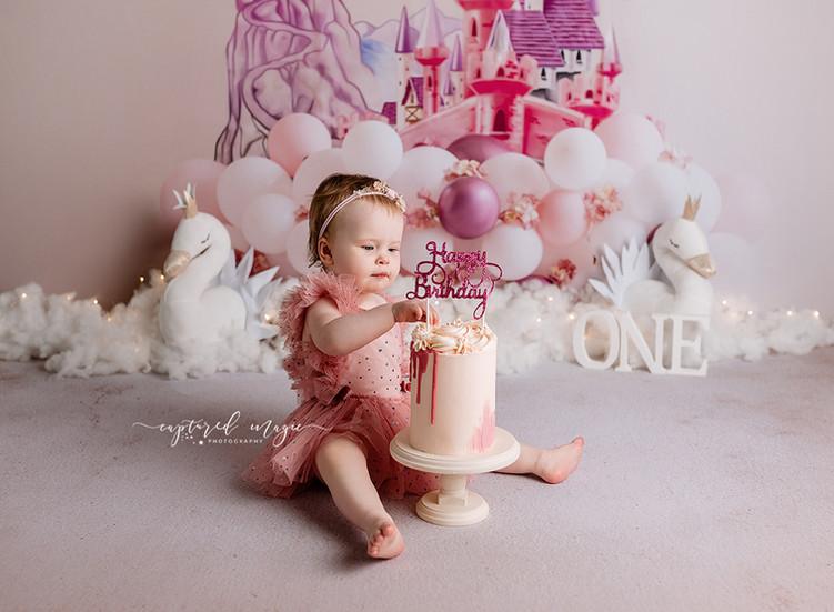 Princess birthday cake smash