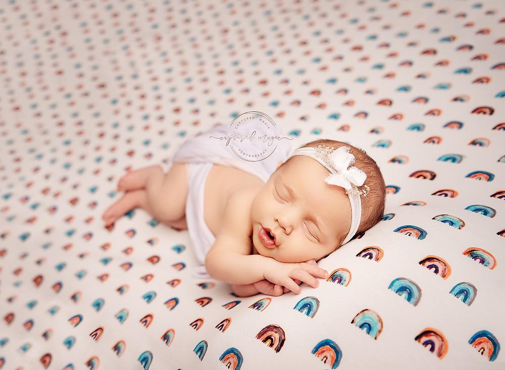 Rainbow baby, newborn, newborn photography, baby photography, newborn photographer, Newport, Wales, Captured Magic Photography