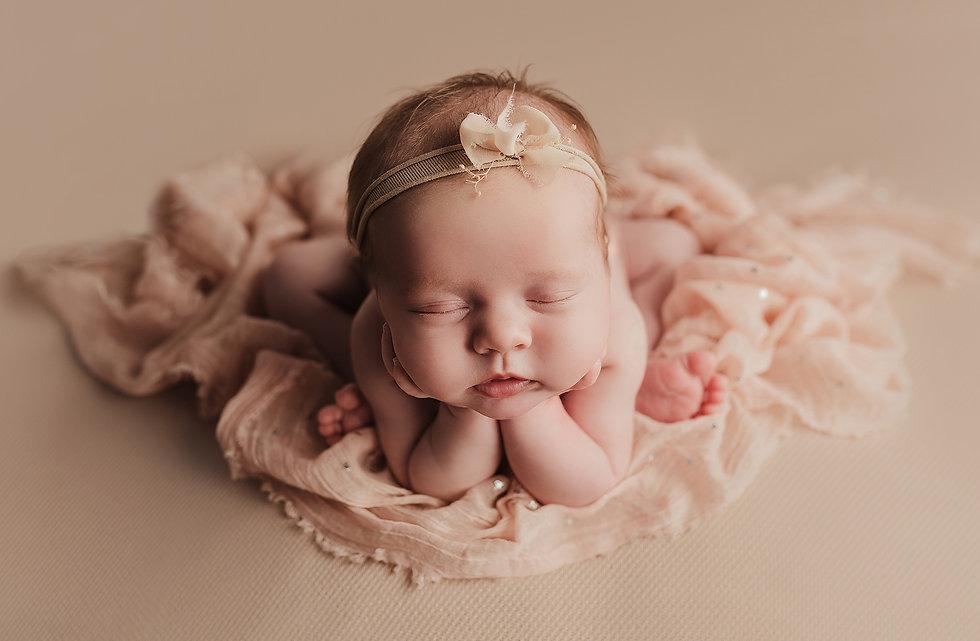 beautiful newborn photo of a baby girl by Captured Magic Photography, Newport