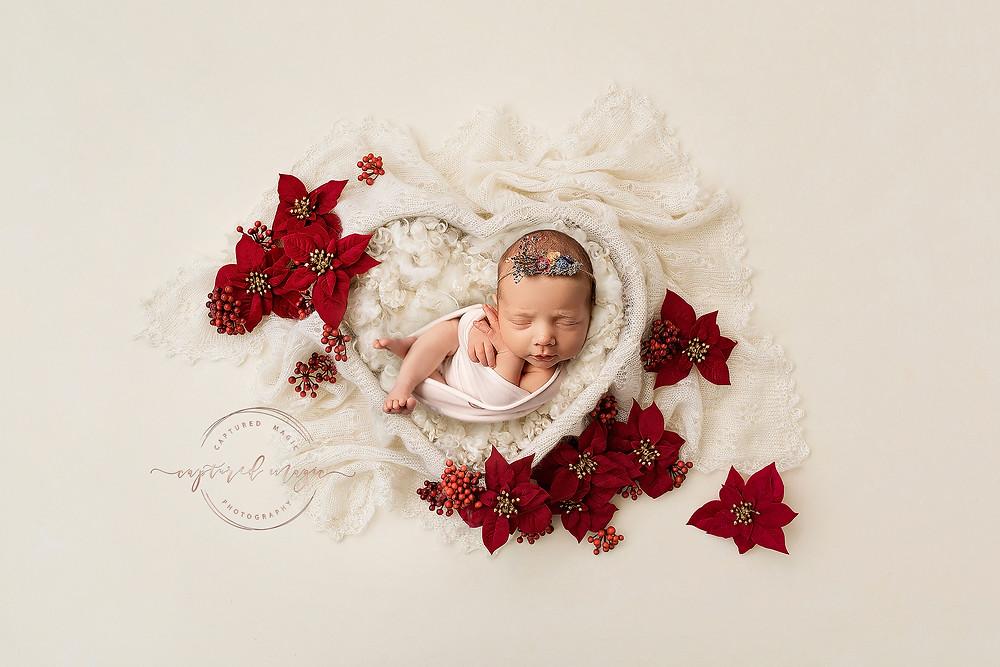 Rainbow baby, baby girl, newborn, Captured Magic Photography, newborn photography, newborn photographer