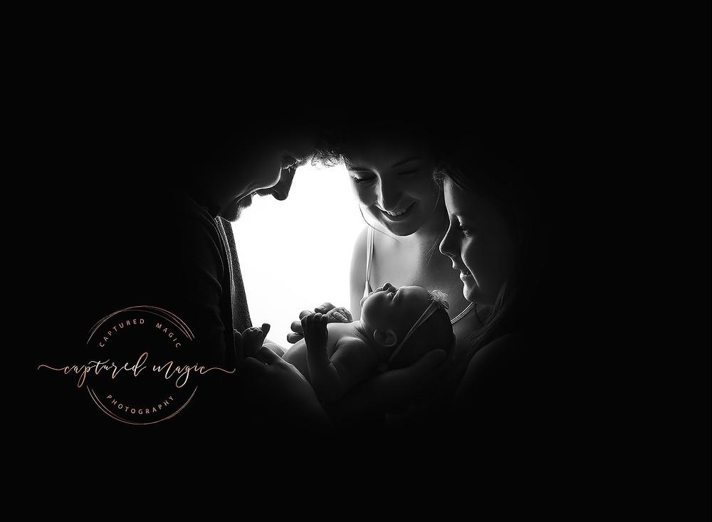 Rainbow baby, newborn, new family, family photo, newborn photography, baby photography, family photography, Newport, Wales, Captured Magic Photography
