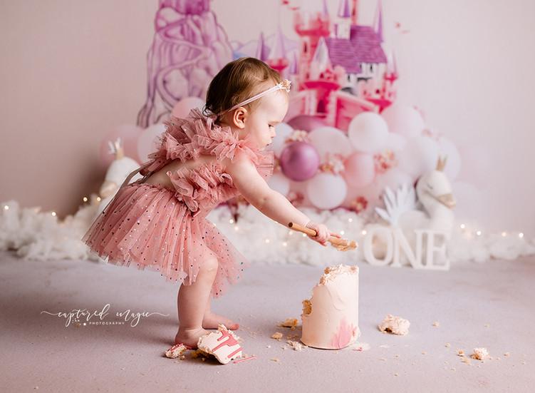 cake smash for a birthday