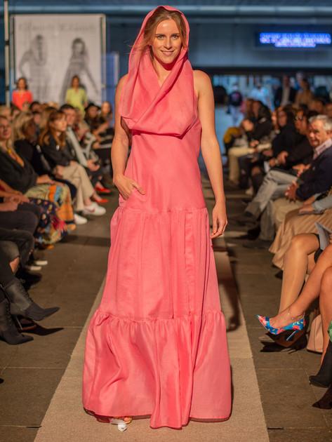 Šaty s kapucí růžové, ND201206