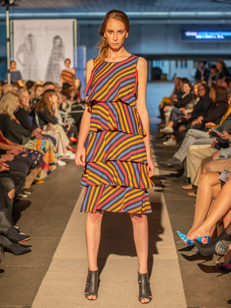 Šaty Wave barevný pruh ND201212