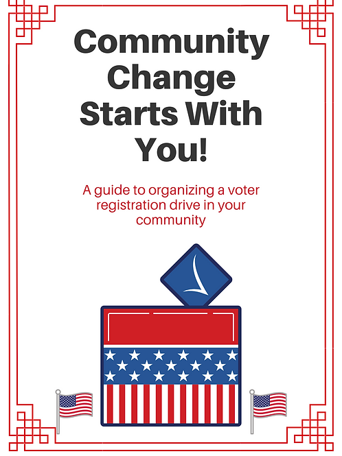 Guide to organize a voter registration drive in your community.