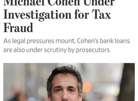 Michael Cohen Is under Federal Investigation for TAX FRAUD!