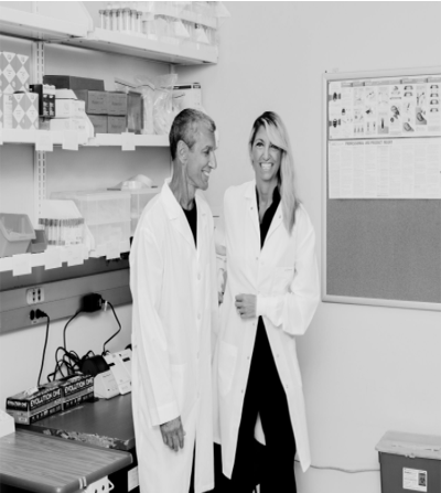 Stephanie and John Cacioppo in their wet laboratory at the University of Chicago