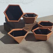 Potes hexagonais