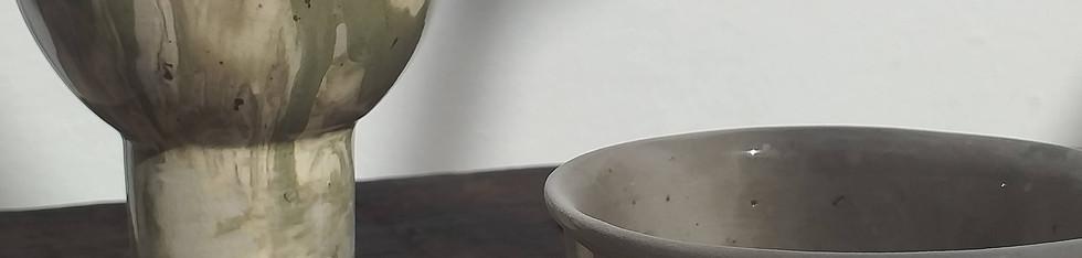 Dupla de taças verdes