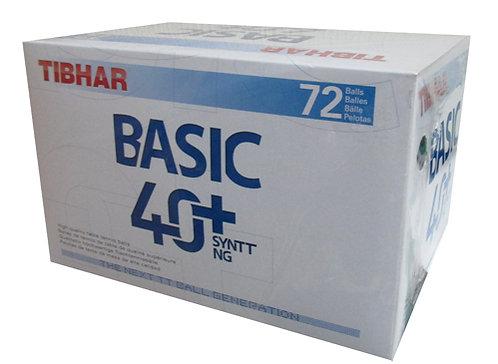 Мячи для н/т Tibhar Basic, 40+ SYNTT NG, бел. 72 шт.