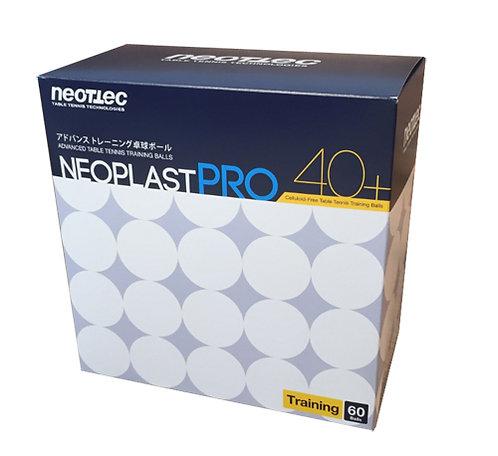 Мячи для н/т NEOTTEC Neoplast PRO 40+ белые, 60 шт.