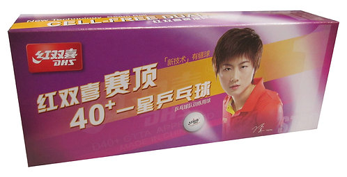 Мячи для н/т DHS 1* D40+ (DUAL) бел. 10 шт.