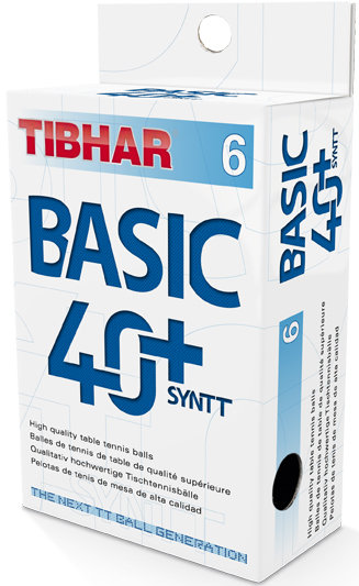 Мячи для н/т Tibhar Basic, 40+ SYNTT NG, бел. 6 шт.