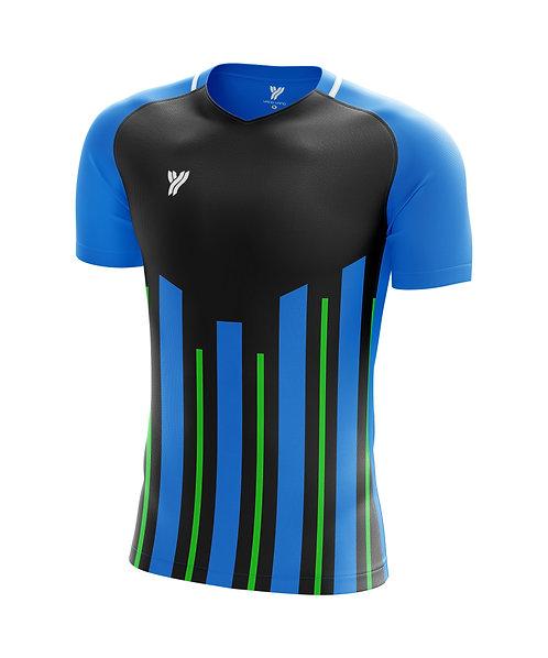 Футболка с18002 (Black/Blue)