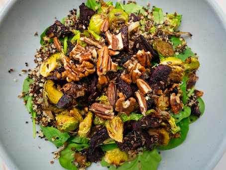 Balsamic Brussels Sprouts & Beet Bowl