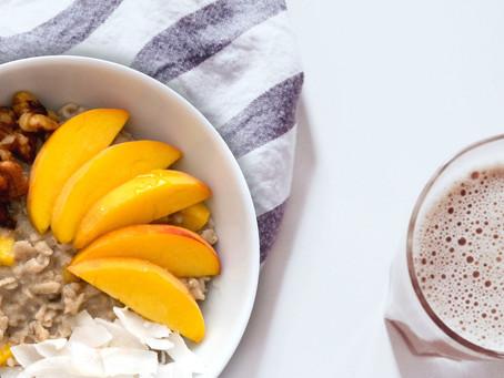 Coconut Peach Oatmeal