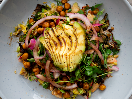 Roasted Brussel Sprout & Chickpea Salad