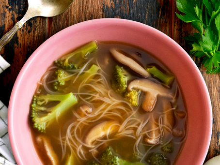 Warming Broccoli Mushroom Soup