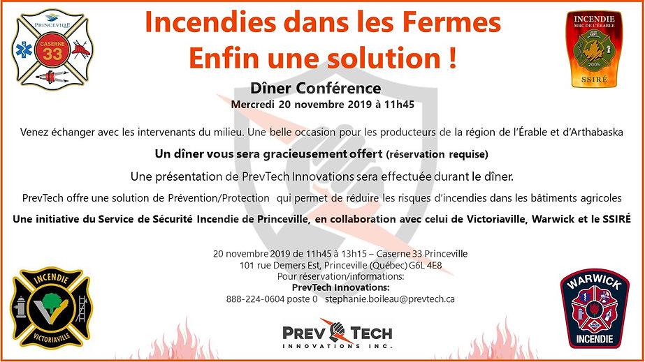 Invitation 20 novembre Caserne 33 Prince