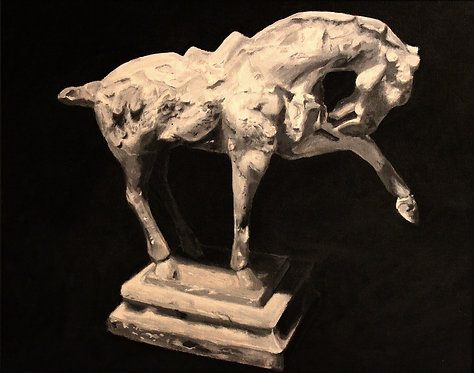 Horse Statuette Woven Blanket