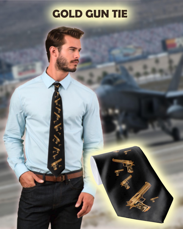 r2r gold gun tie
