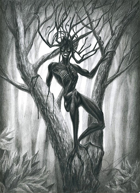 Tar Girl In A Tree