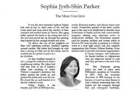 "Sophia Parker ""Profiles of Success"""