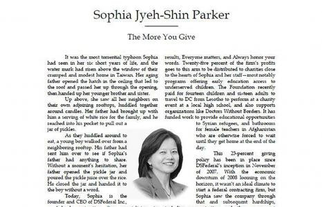 """Sophia Parker featured in """"Profiles of Success"""" book series"""