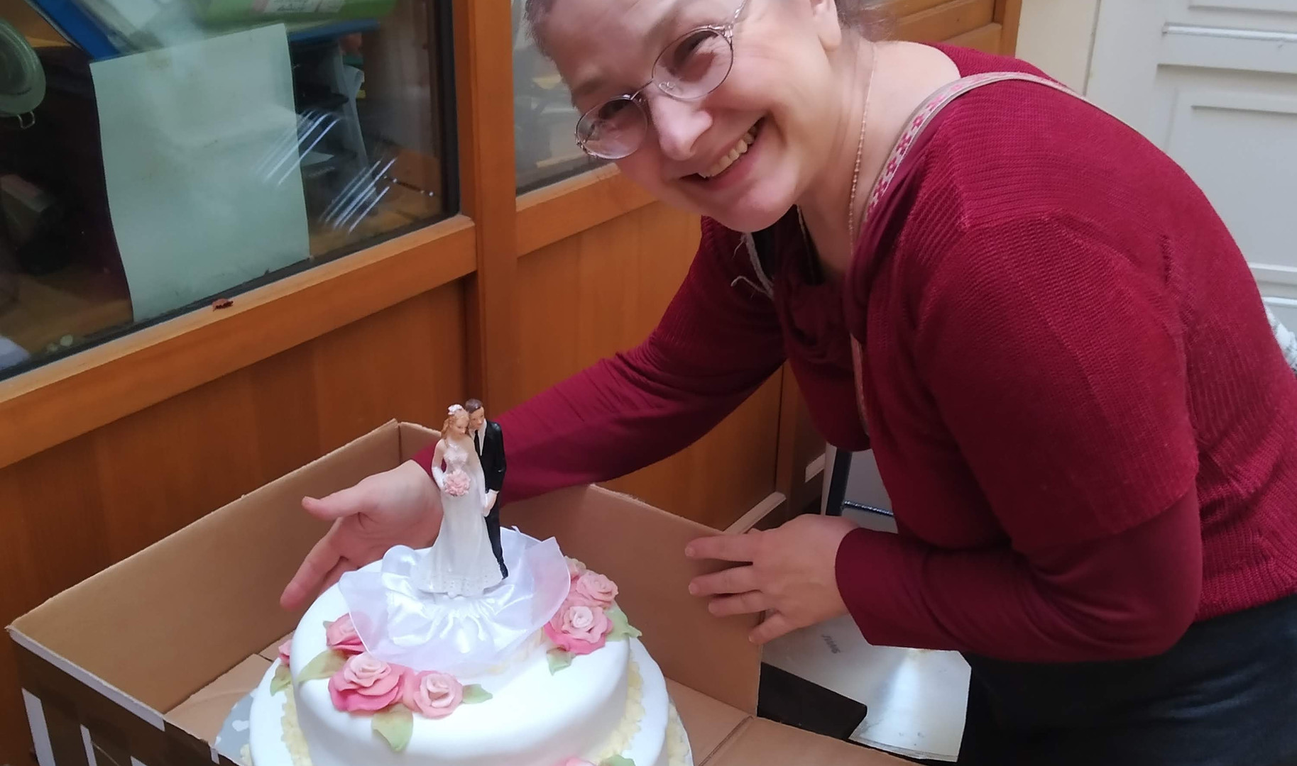 převoz svatebního dortu do Maitreii