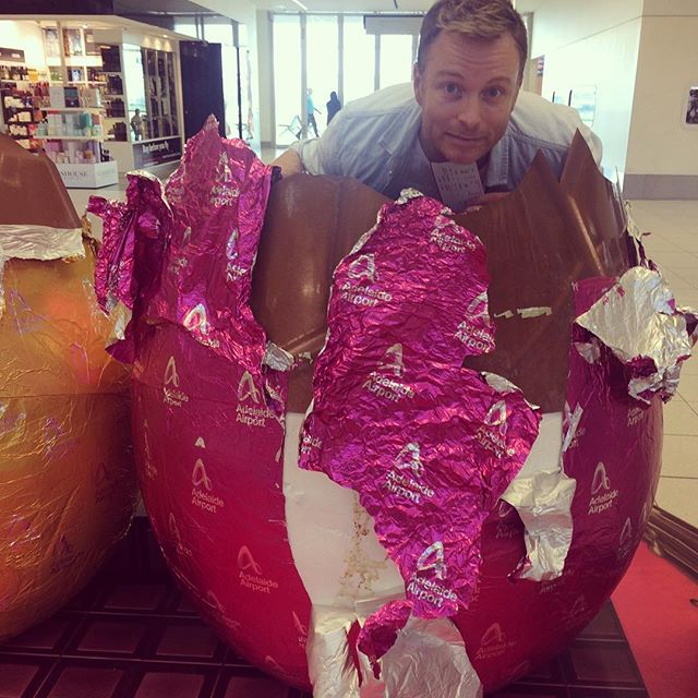 Careful, you never know what you'll find in your chocolate eggs today! #TinderSurprise #HappyEaster
