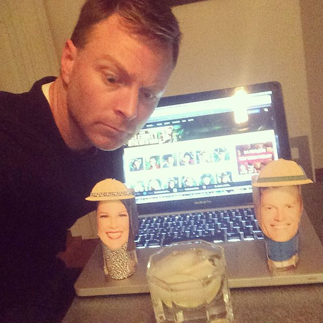 Tonight it's just me and my 2 friends _ladyjuliamorris & _drchrisbrown ready for the broadcast of _i