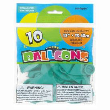 "Balloon Latex 12"" Emerald Green 10C"