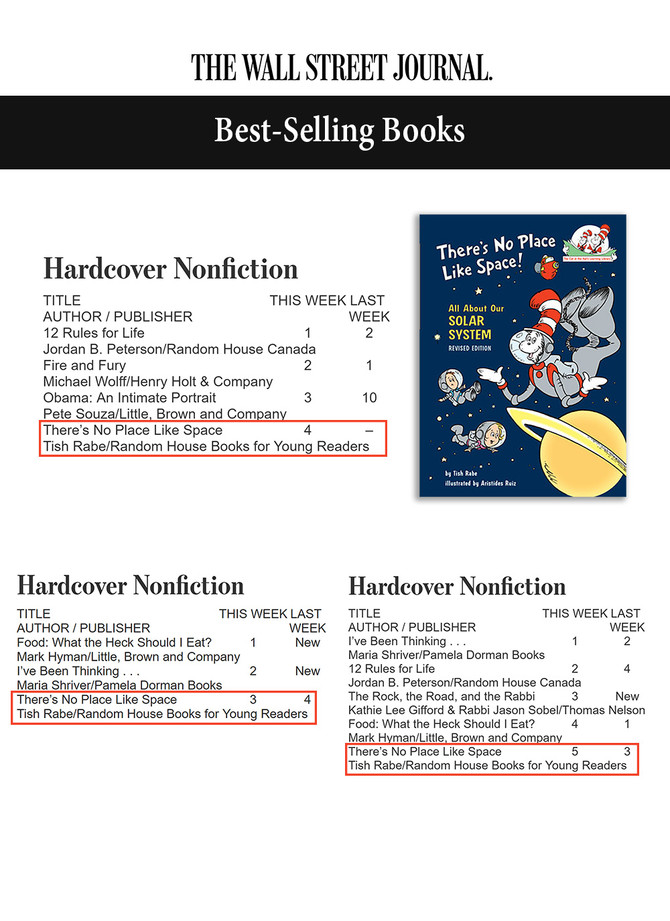 """""""There's No Place Like Space"""" is a WSJ Best-Selling Book"""