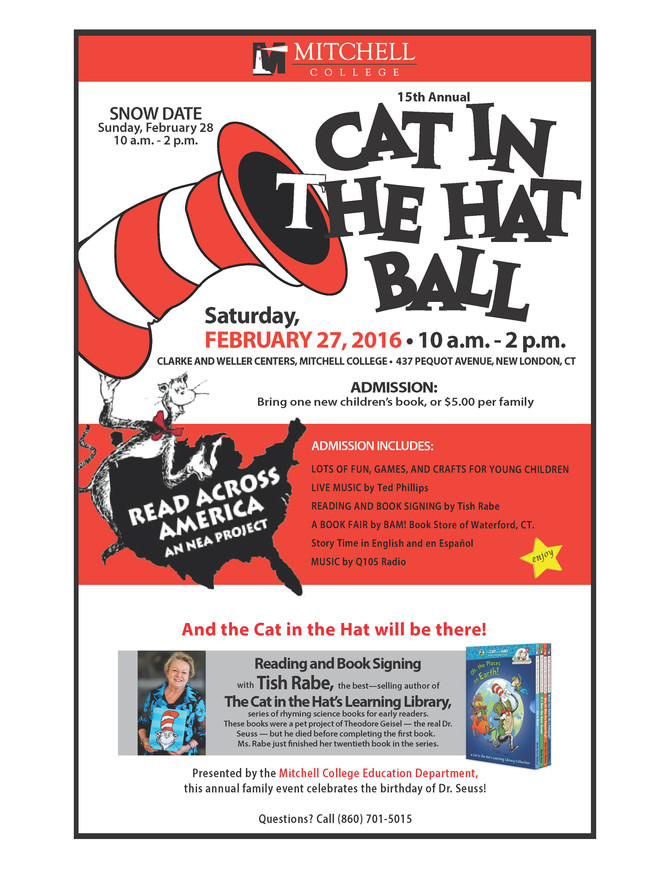 Tish Rabe to Appear at the 2016 Cat in the Hat Ball at Mitchell College