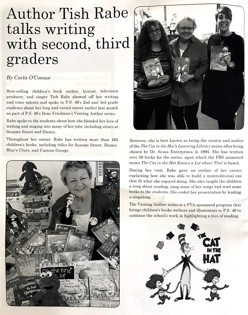 Tish Rabe author visits
