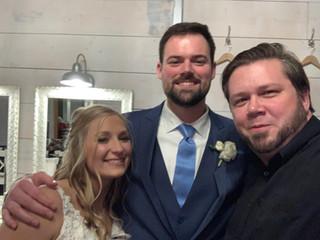 DJ Justin Jaggers with Kathryn & Mason Piper at Spring Creek Ranch Weddings 1.18.20