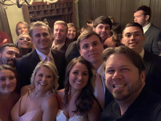 DJ Justin Jaggers with Kayla & Andrew Miller at Heartwood Hall 11.2.19